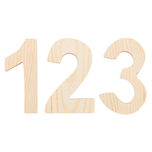 Rico Design Zahlen 8cm Holz