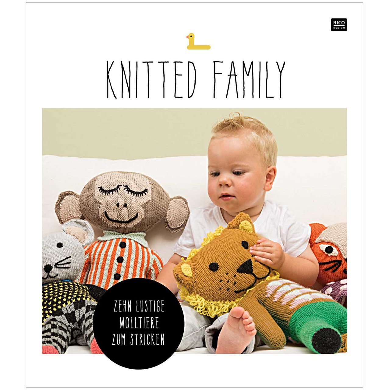 Rico Design Knitted Family - 10 lustige Tiere z...