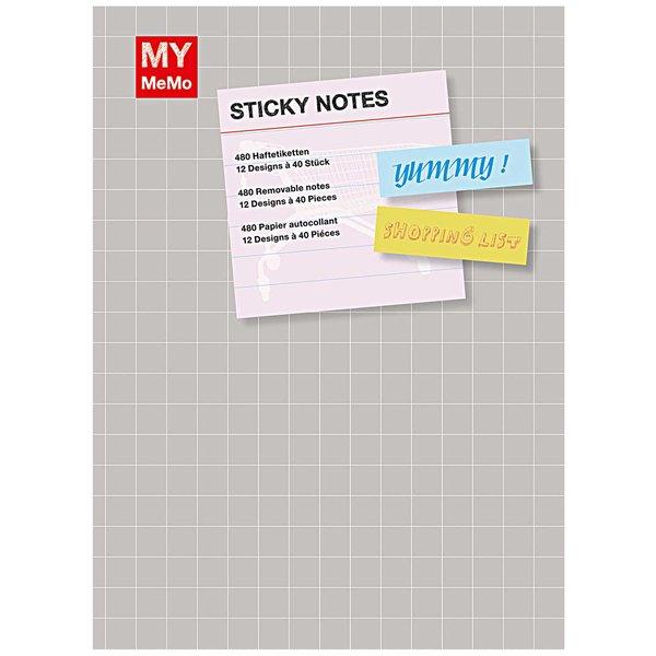 Rico Design Sticky Notes Buch 3 mit 12 Designs