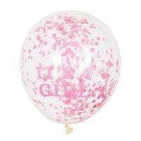 Partystrolche Luftballons Konfetti It's a girl 30cm 6 Stück