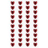 Paper Poetry Strass-Sticker Herzen rot 8mm