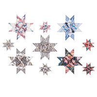 Rico Design Fröbelstreifen mehrfarbig marmoriert 60 Stück