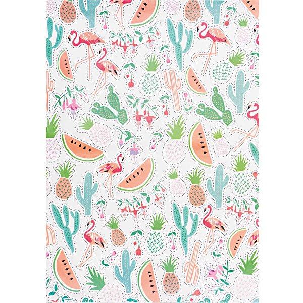 Rico Design SB Paper Patch Papier Tropical Spring 30x42cm 3 Bogen