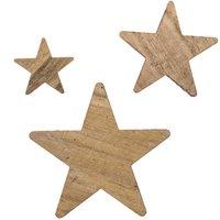Streu Sterne Holz weiß washed 30 Stück