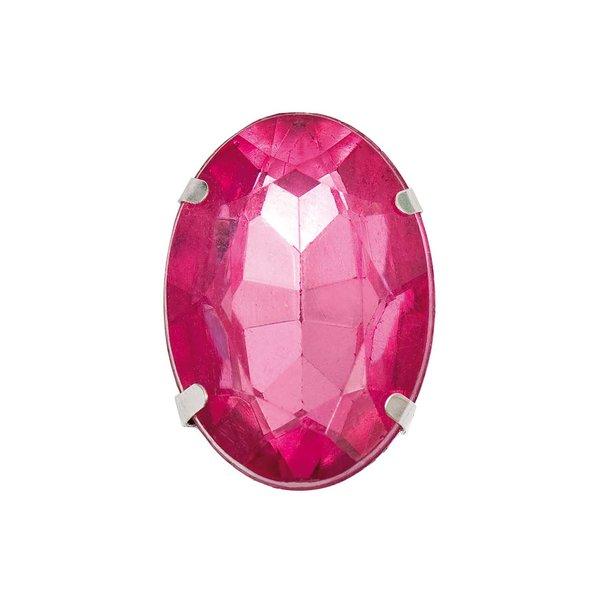 Jewellery Made by Me Aufnähstein gefasst pink 18x25x9mm