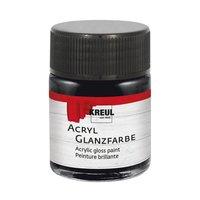 KREUL Acryl Glanzfarbe schwarz 50ml