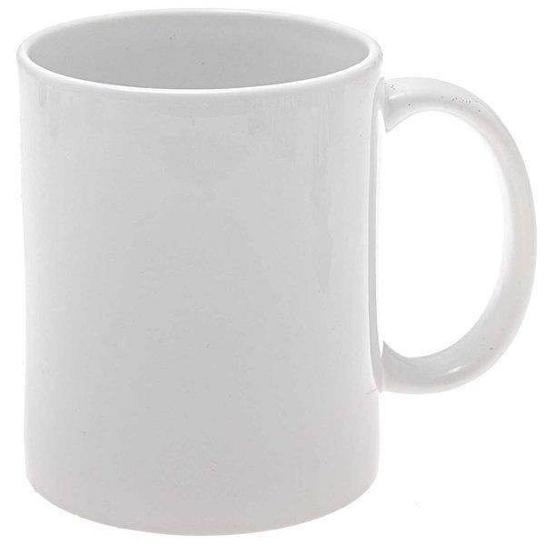 Tasse zum Bemalen 9,5cm Porzellan weiß