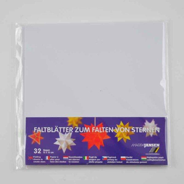 MARPA JANSEN Faltblätter weiß 15x15cm 32 Stück