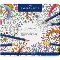 Faber Castell Art Grip Aquarellstifte Metalletui 24teilig