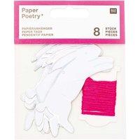 Paper Poetry Papieranhänger Hasen 8 Stück