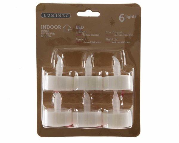 LED Teelichter weiß 6 Stück
