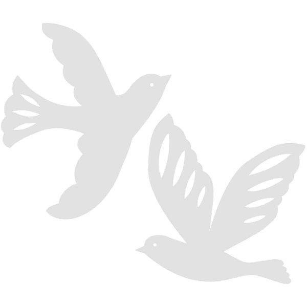 Rico Design Cardboard Vögel 3 Stück