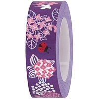 Rico Design Tape Blümchen lila 15mm 10m