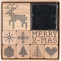 Paper Poetry Stempelset Weihnachten Kreuzstich 8 Stück