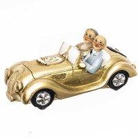 Goldpaar im Auto 11cm