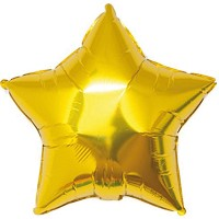 YEY! Let's Party Folienballon Stern gold 36cm