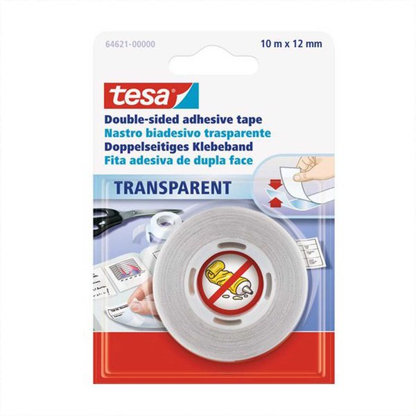 tesa film® Doppelseitiges Klebeband transparent 12mm 10m