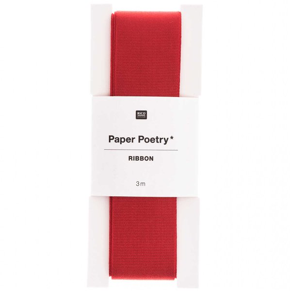 Paper Poetry Taftband rot 25mm 3m