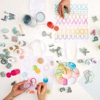 Anleitung Tragetasche mit Textilfarben gestalten