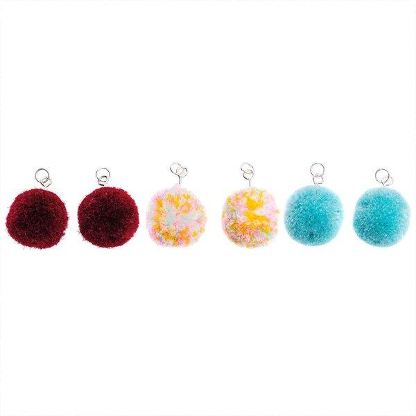 Jewellery Made by Me Pompons mit Öse 2cm 2 Stück