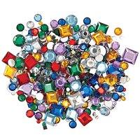 Rico Design Strass Mix Kreis und Quadrat mehrfarbig ca. 800 Stück
