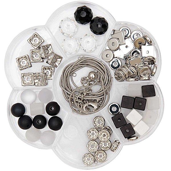 Rico Design Polaris Blumenbox schwarz-weiß 118teilig