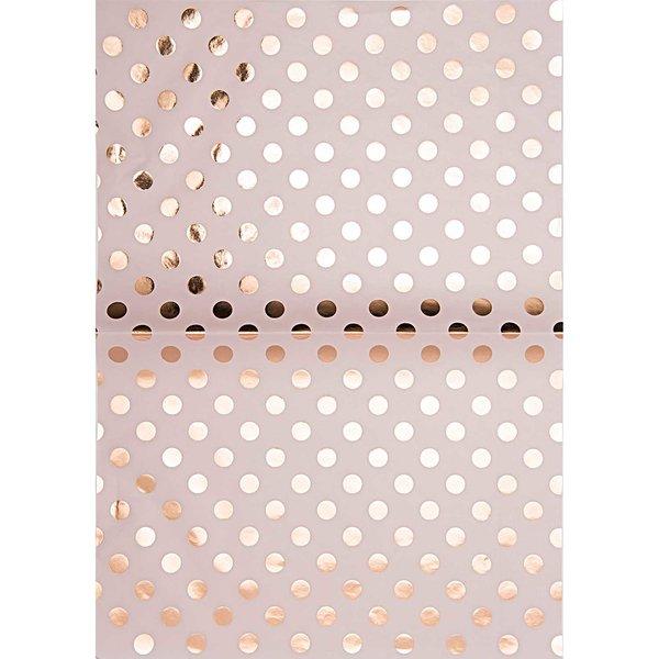 Rico Design Paper Patch Papier Punkte rosa 30x42cm Hot Foil