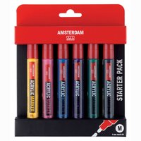 AMSTERDAM Marker Set Basis 6 Stück