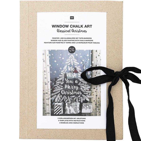 Rico Design Vorlagenmappe Fenster- und Glasmalerei mit Kreidestiften Classical Christmas
