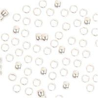Jewellery Made by Me QuetschPerle silber 1,5mm 200 Stück