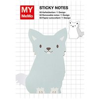 Rico Design Sticky Notes Hund blau 50 Stück