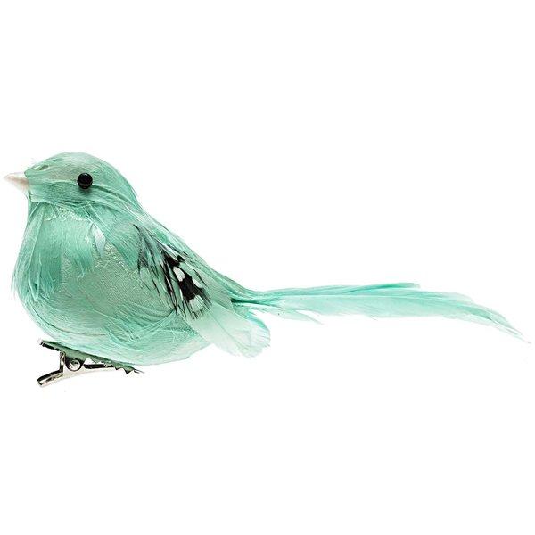 Deko Vogel mintgrün 11cm kaufen »
