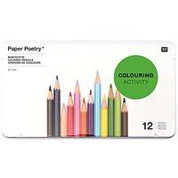 Paper Poetry mehrfarbigstifte im Metalletui 12 Stück