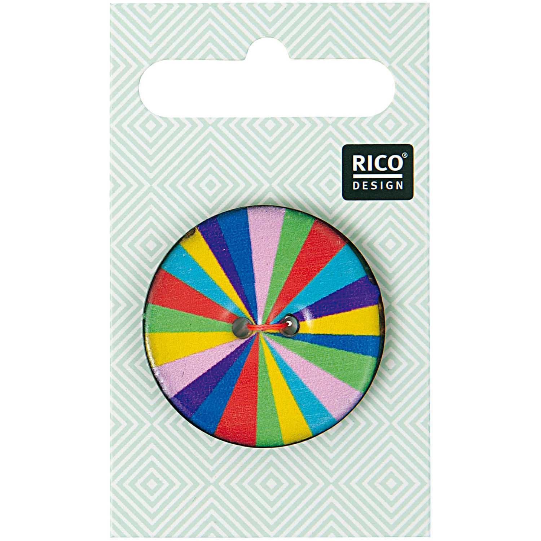 2-Lochknopf mit mehrfarbigen Streifen