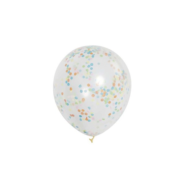 Partystrolche Luftballons Konfetti 30cm 6 Stück