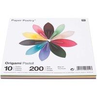 Paper Poetry Origami pastell 15x15cm 200 Blatt 10 Farben