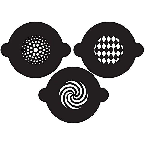 Rico Design Cupcake Schablonen geometrisch 3er Set