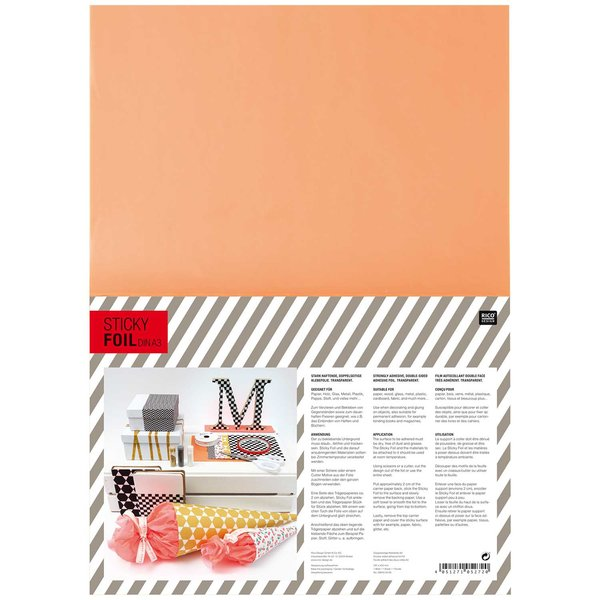 Rico Design Sticky Tape doppelseitige Klebefolie DIN A3
