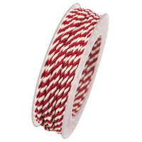 GOLDINA Lido Kordel rot-weiß 3mm 2,5m