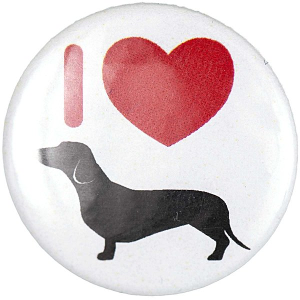 Jewellery Made by Me Button I love Hunde