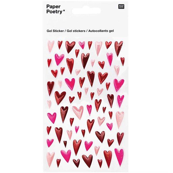 Paper Poetry Gelsticker Herzen lang