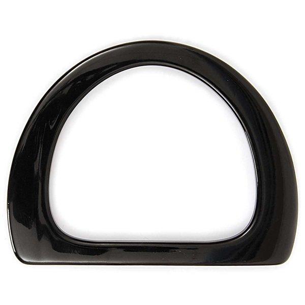 Rico Design Taschengriffe flach schwarz 17x13cm 2 Stück