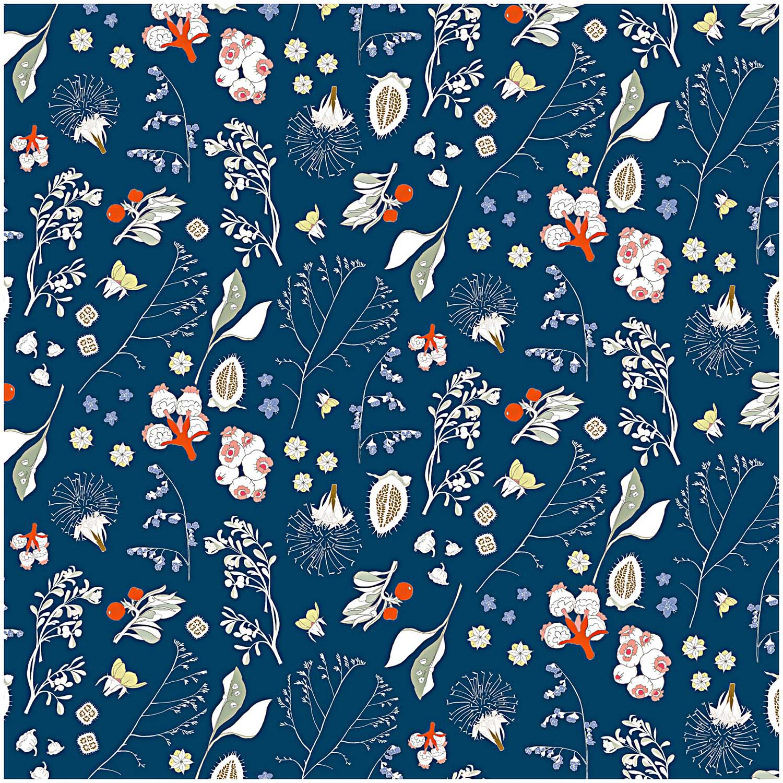 Baumwollstoff mit floralem Muster