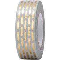Paper Poetry Tape gestrichelt gold 15mm 10m Hot Foil