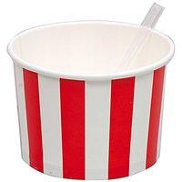 Rico Design Eisbecher rot-weiß 10 Stück