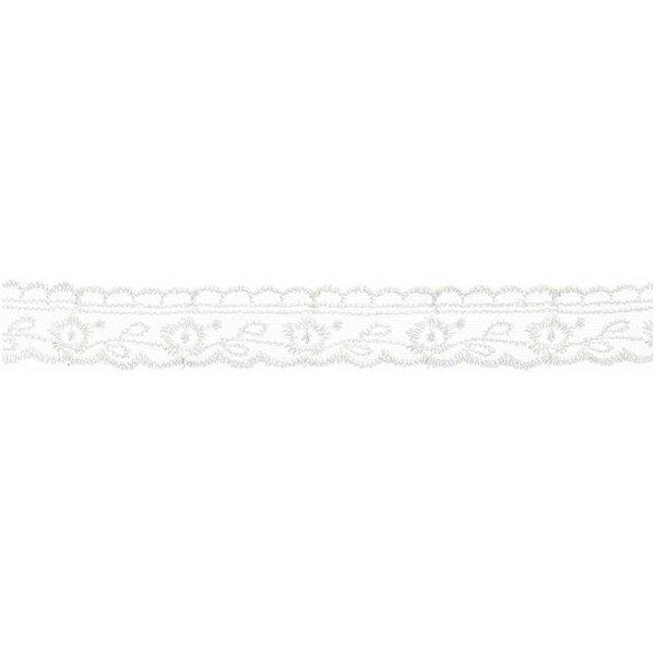 Spitzenband weiß 18mm