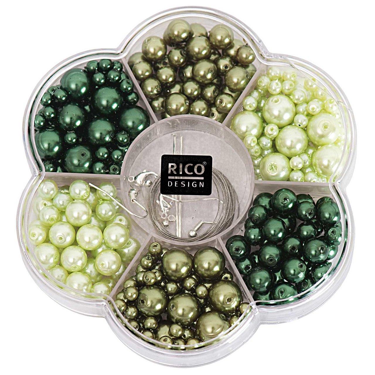 Rico Design Renaissance Perlenset grün Mix