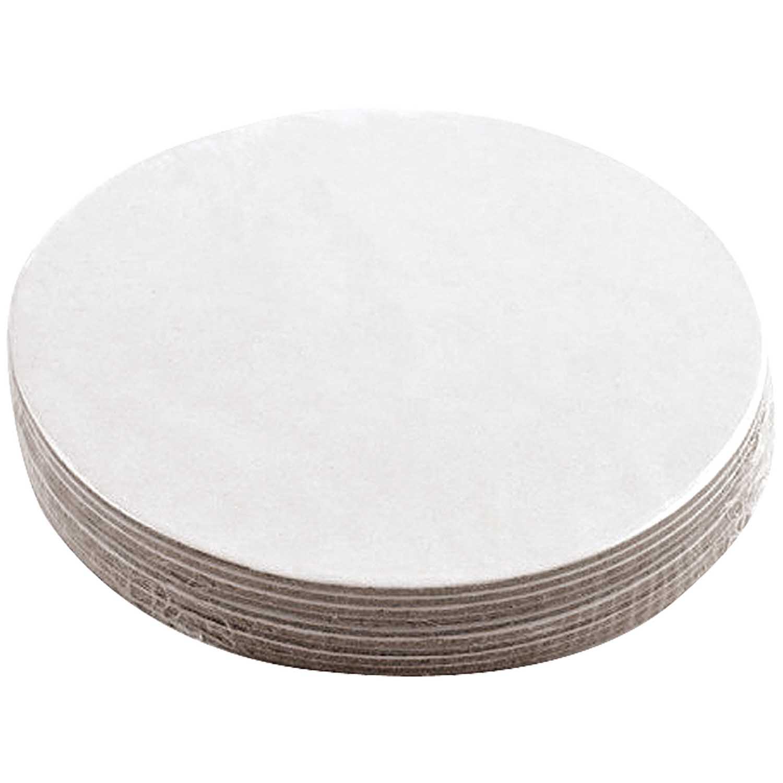 Rico design bierdeckel wei rund 10 st ck kaufen for Dekosteine rund