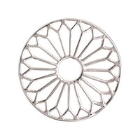 Rico Design Scheibe Ornament Nr.1 silber 30mm