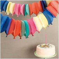 YEY! Let's Party Wabenpapier Girlande Luftballons 6m